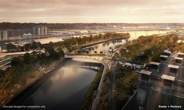 Proposed new Orwell bridges