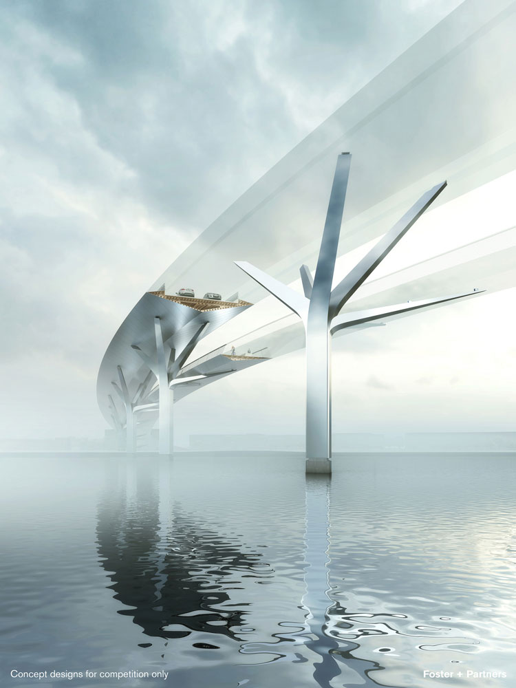Concept image of the new Orwell Bridge