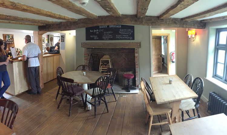Inside the Oyster Inn at Butley